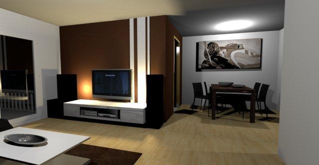 Ideen Wandgestaltung Wohnzimmer Braun | Sciamfot.com Wandgestaltung Wohnzimmer Grau Streifen