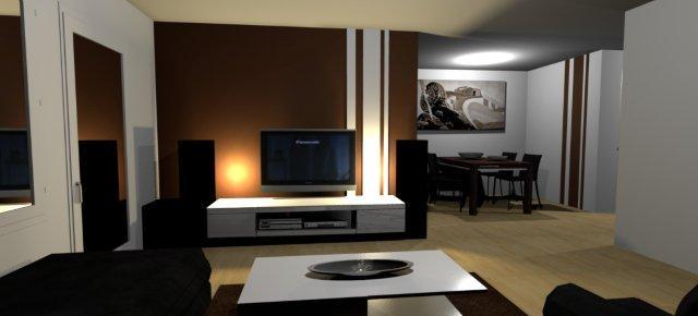 wandfarben wohnzimmer braun. Black Bedroom Furniture Sets. Home Design Ideas